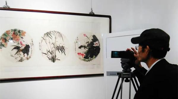 花鸟画名家邵斌作品亮相上海扇面展