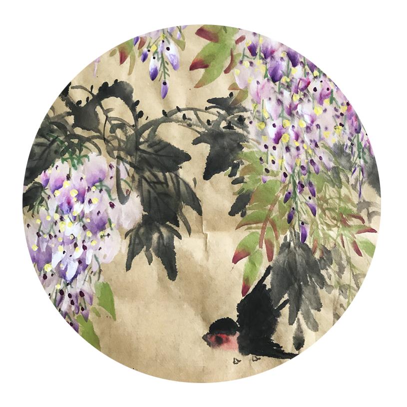 紫气东来 条幅 丁酉之夏