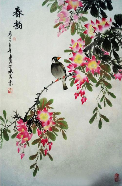 春韵 条幅 丁酉年春月