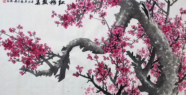 红梅报春 名家国画梅花 辛丑年春月