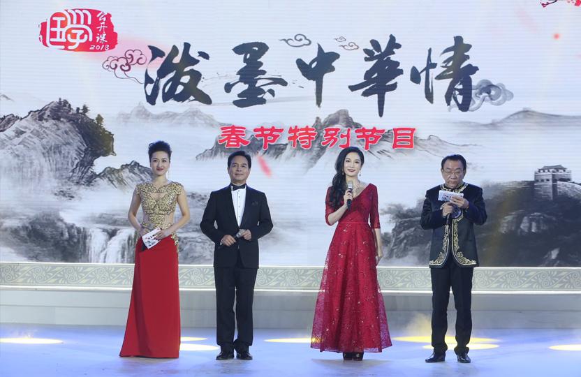 """中国教育电视台2018""""泼墨中华情""""书画春晚"""