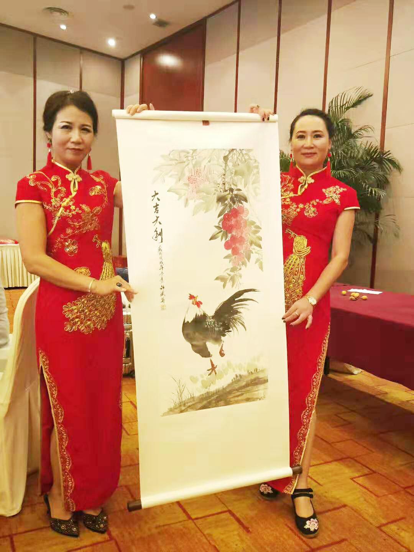 邵斌老师写意花鸟画《大吉大利》现场拍卖